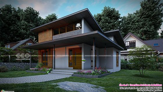 8K rendering of ultra modern low cost house in Kerala