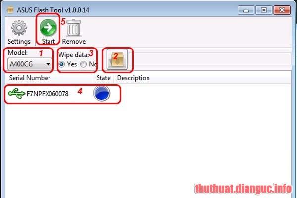 [Hướng dẫn] Dùng Asus Flash Tool để up rom gốc cho các dòng máy ZenFone, ZenPad, FonePad..