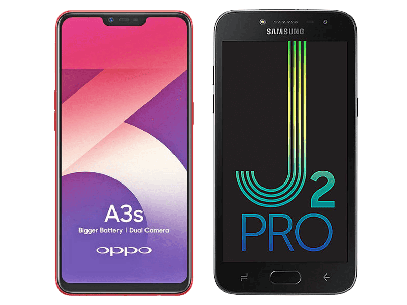 OPPO A3s vs Samsung Galaxy J2 Pro (2018) Specs Comparison