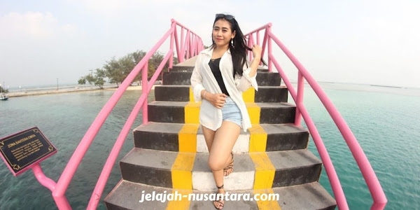 spot foto jembatan cinta pulau tidung