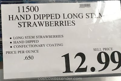 Deal for the Hand Dipped Long Stem Strawberries at Costco