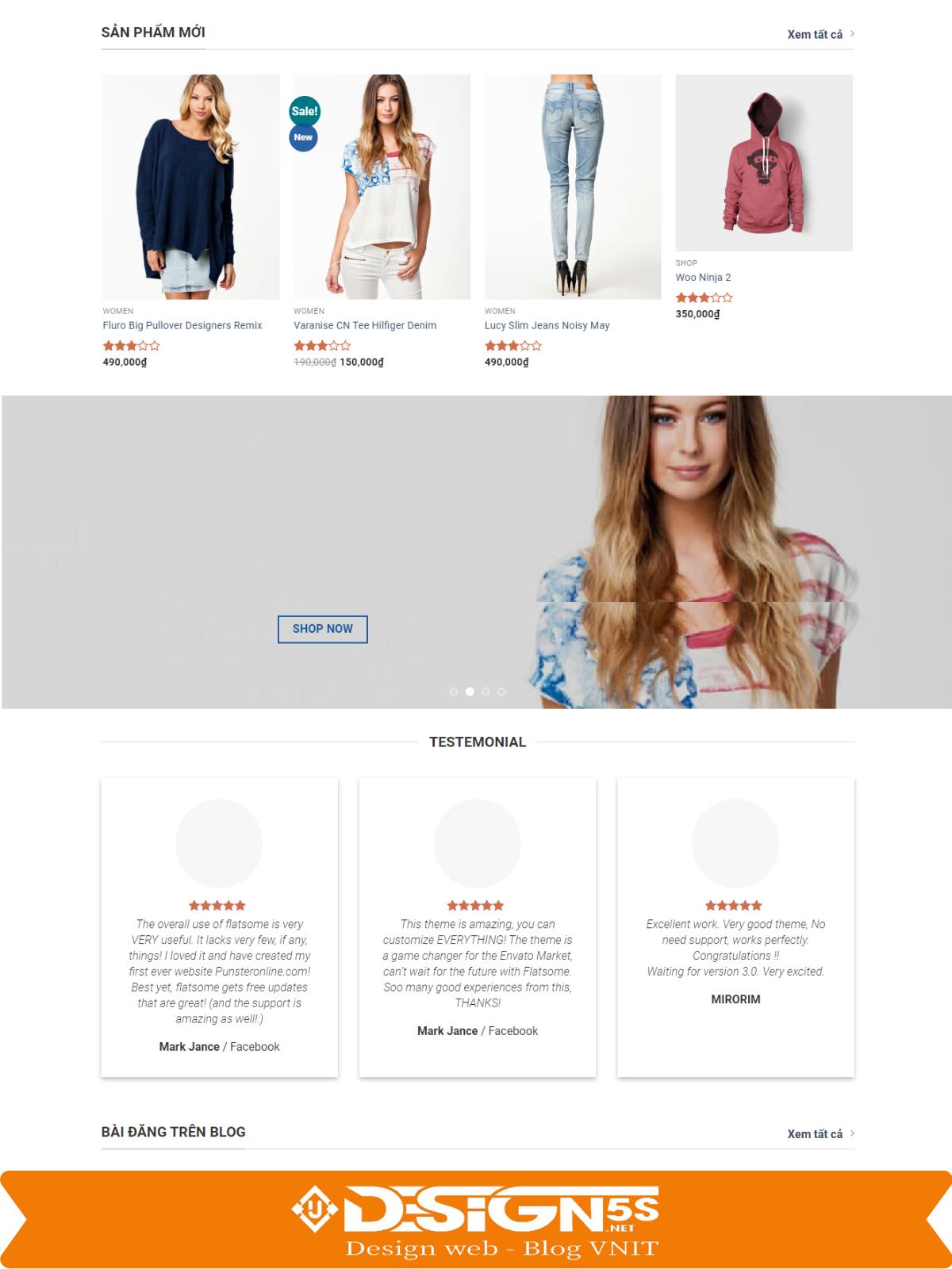 Mẫu Website bán hàng Flatsome Mega Shop  - Ảnh 2