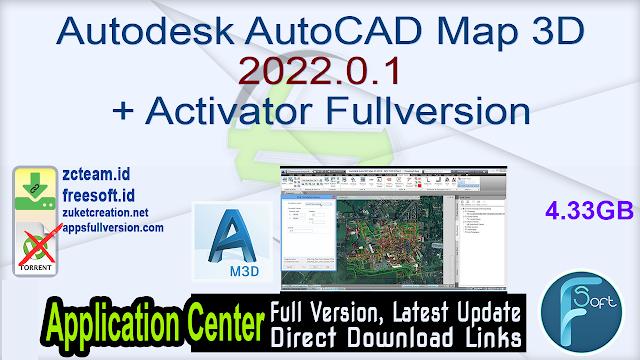 Autodesk AutoCAD Map 3D 2022.0.1 + Activator Fullversion