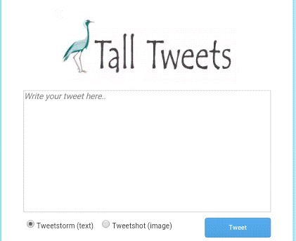 how to tweet long status using tall tweet website