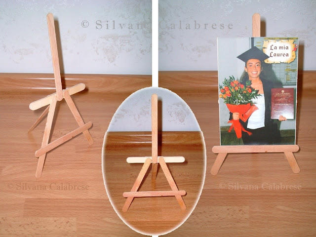 Easel with Ice cream sticks photo frame Loving San Francisco