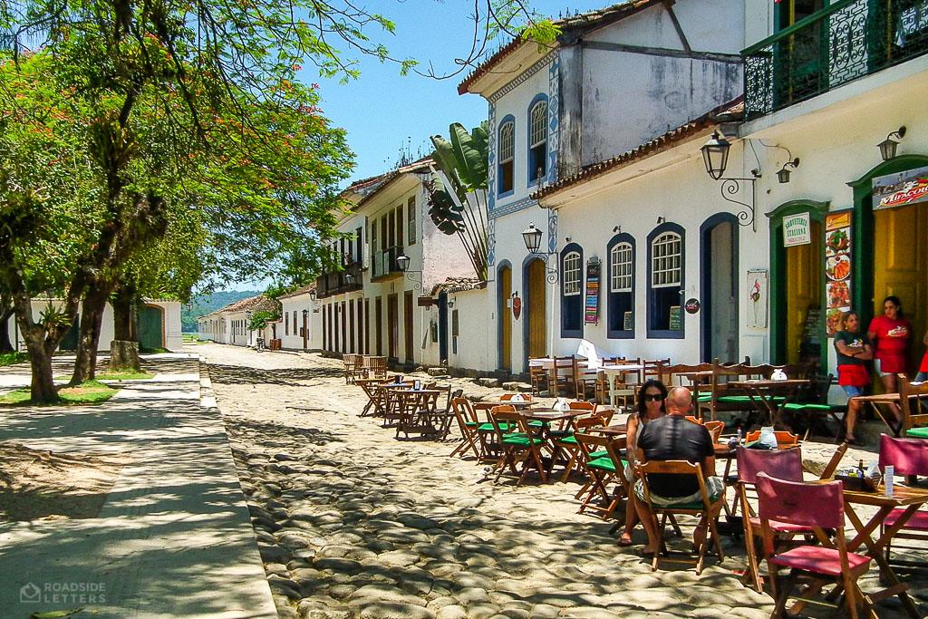 Restaurant in Paraty, Costa Verde, Brazil