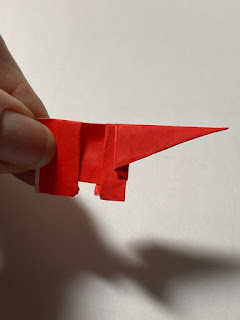 origami red elephants