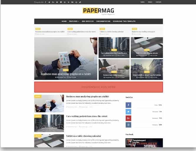 Paper Mag Blogger templates