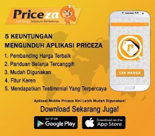 Dapatkan harga termurah saat belanja online dengan aplikasi Priceza