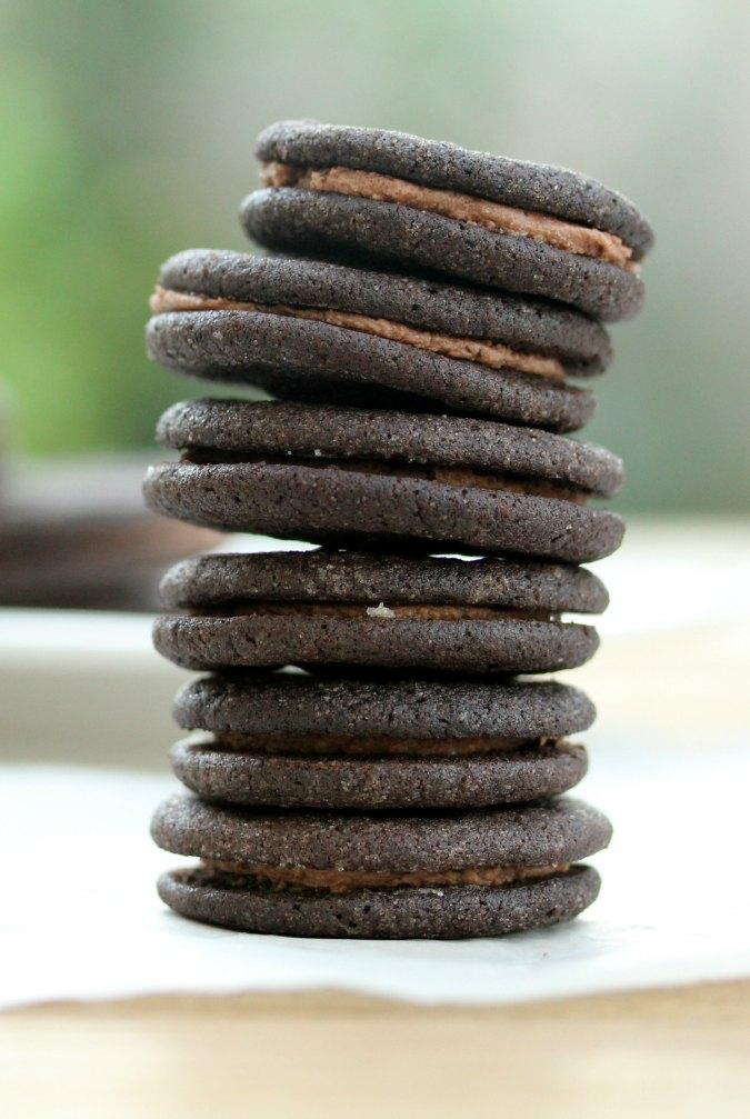Mini Chocolate Sandwich Cookies (Small Batch)