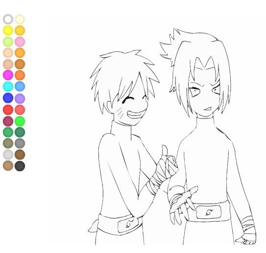 Coloring Games: Game Mewarnai Naruto and Sasuke