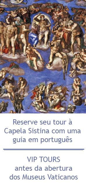Passeio a Capela Sistina com guia particular em português