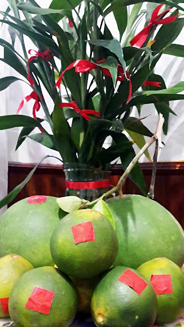Jeruk Bali untuk melengkapi perayaan Imlek