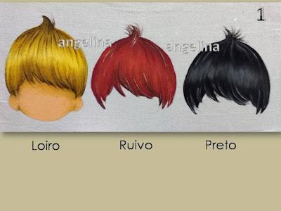 pintura em tecido como pintar varios cabelinhos