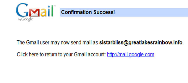 how to make email adresses go thorugh gmail