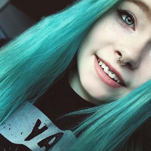 güzel kız smiley piercing