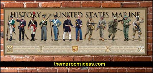 History of The United States Marine Print
