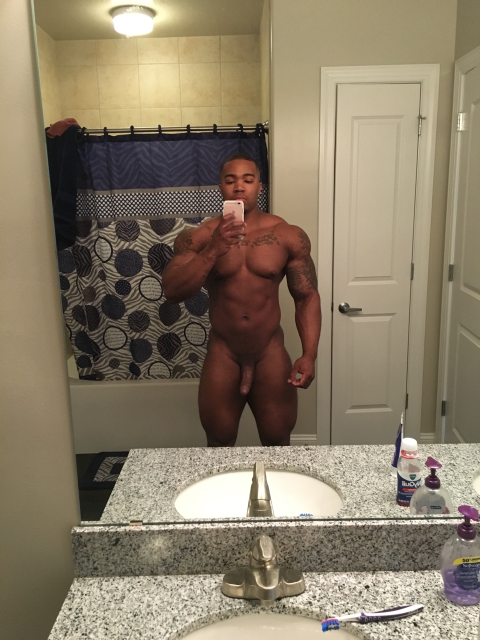Black Nude Male Selfies