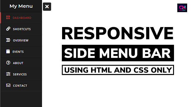 Responsive Sidebar Menu using HTML and CSS