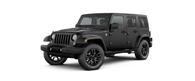 Black Jeep Wrangler smoky mountain limited edition
