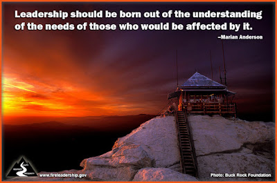 Leadership should be born out of the understanding of the needs of those who would be affected by it. – Marian Anderson
