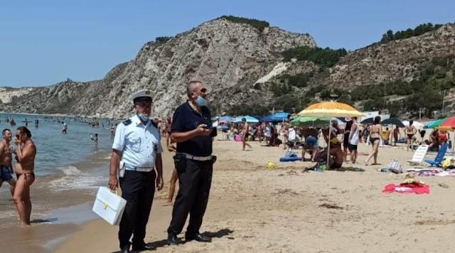 Comunicalo.it – Controlli anti Covid sulla spiaggia di Siculiana Marina