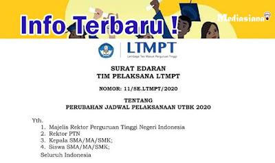 Jadwal Pelaksanaan UTBK-SBMPTN 2020