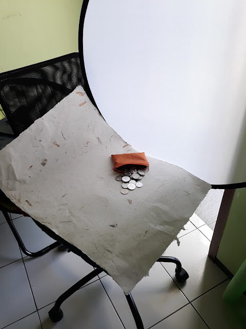 behind the scene using reflector