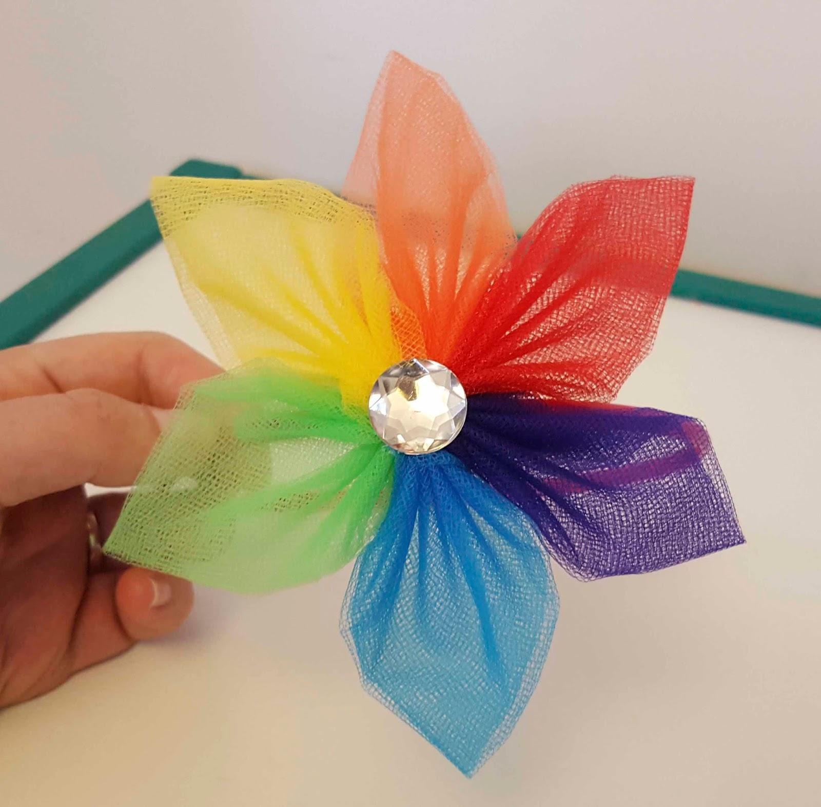 ChemKnits  Pride Headband - DIY Rainbow Tulle Flower 6be97aa6c36