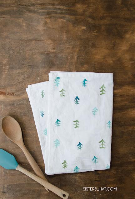 easy diy tea towels