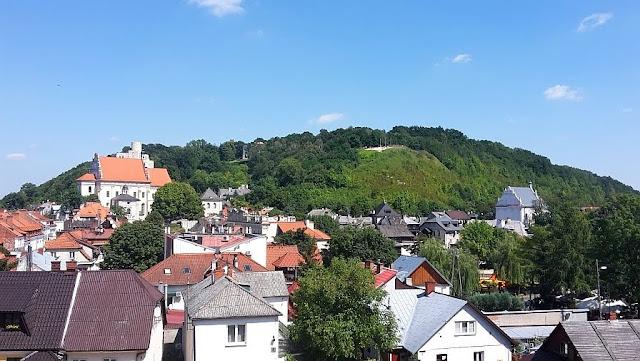 Widok na Kazimierz Dolny z Sanktuarium Matki Boskiej Kazimierskiej