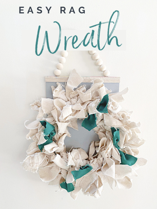 rag wreath pin