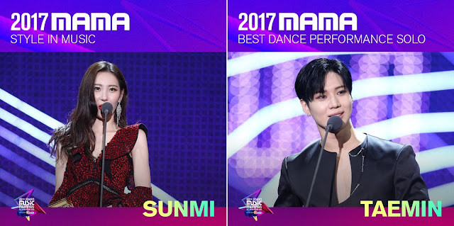 MAMA - Vencedores do Mnet Asian Music Awards 2017