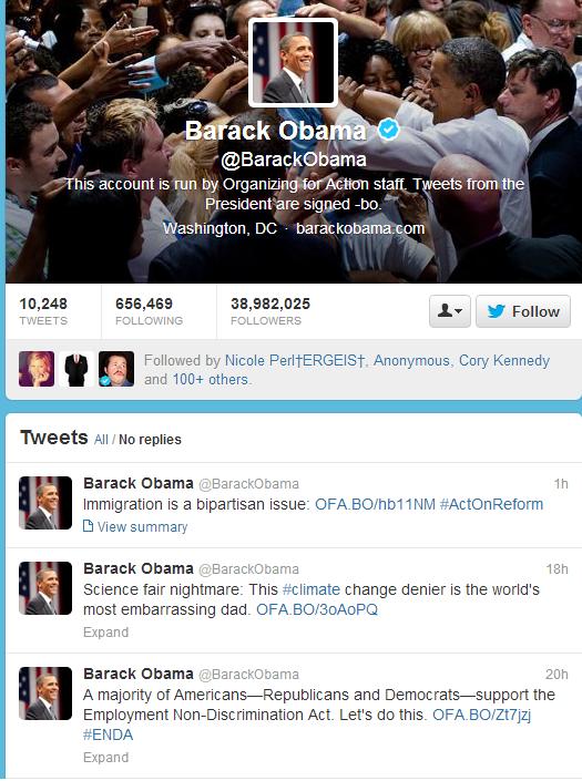 barack obama s twitter