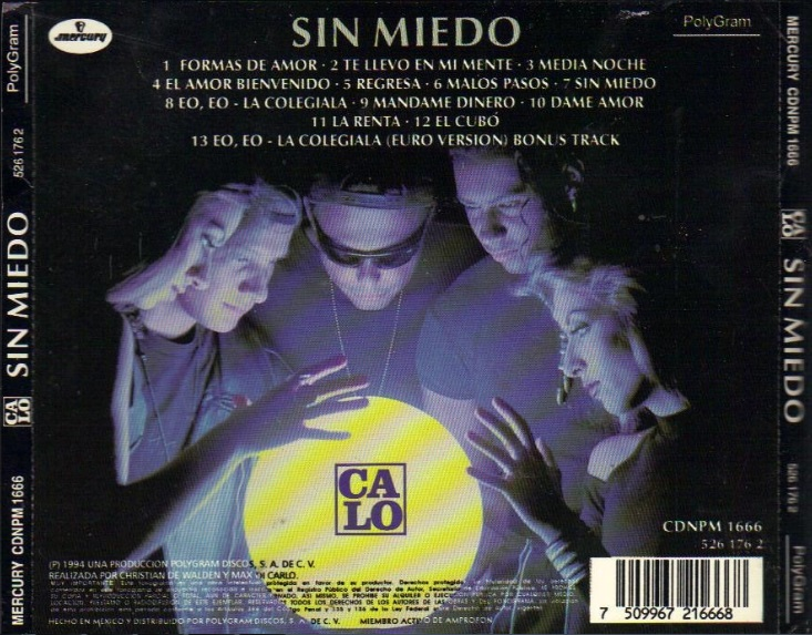 Missing Hits 7 Calo Sin Miedo 1995