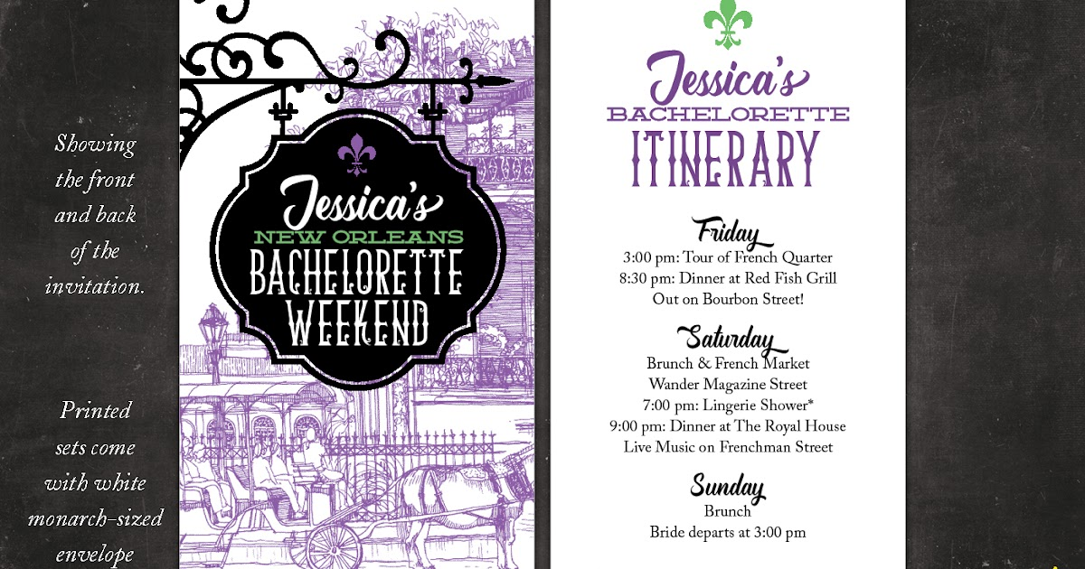Nealon Design: NEW ORLEANS . bachelorette weekend invitation
