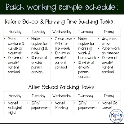Batch Working to Save Teachers Time Planning
