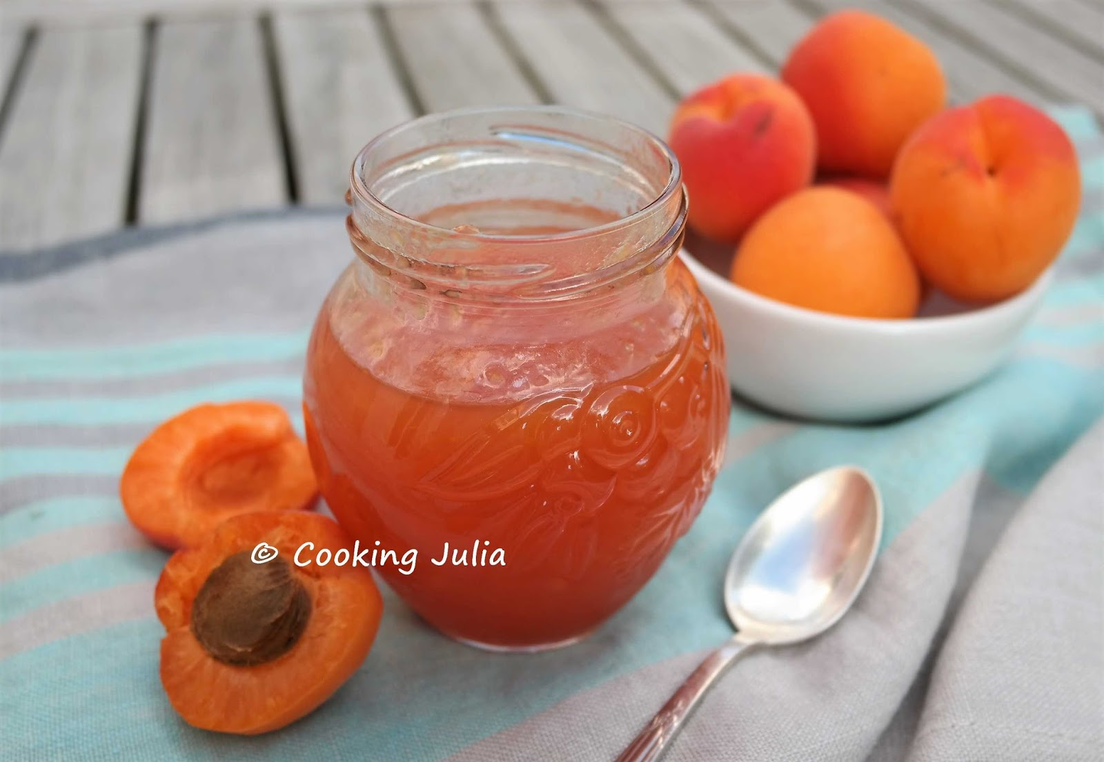 confiture abricot cooking julia