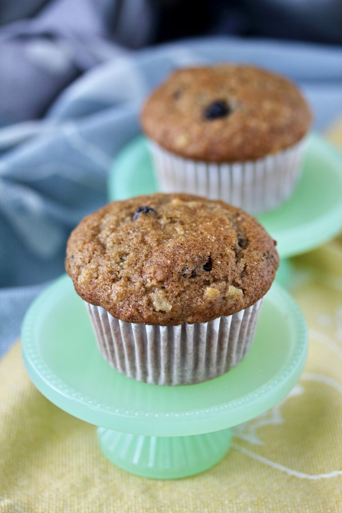 Apple Rye Muffins with cranberries