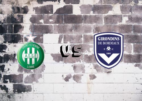 Saint-Étienne vs Girondins de Burdeos  Resumen