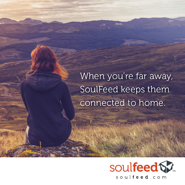 SoulFeed helps keep them connected to home #ad