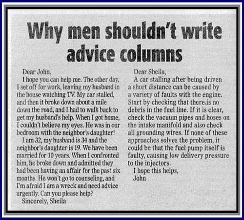relationship advice columnist