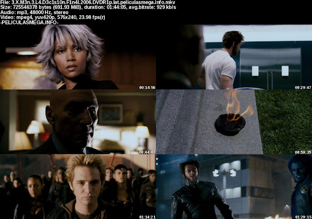 Descargar X-Men: La decisión final Latino por MEGA.