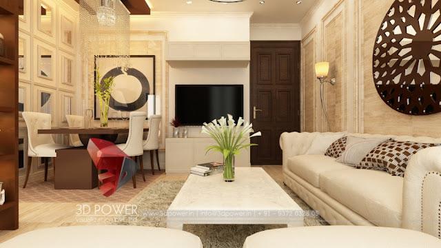 3D Interior Design of Dining Room