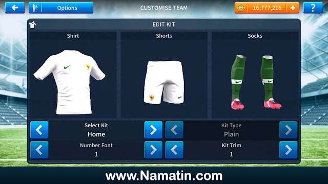 Kostum Dream League Soccer Timnas Indonesia
