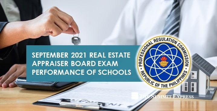 RESULTS: September 2021 Real Estate Appraiser board exam