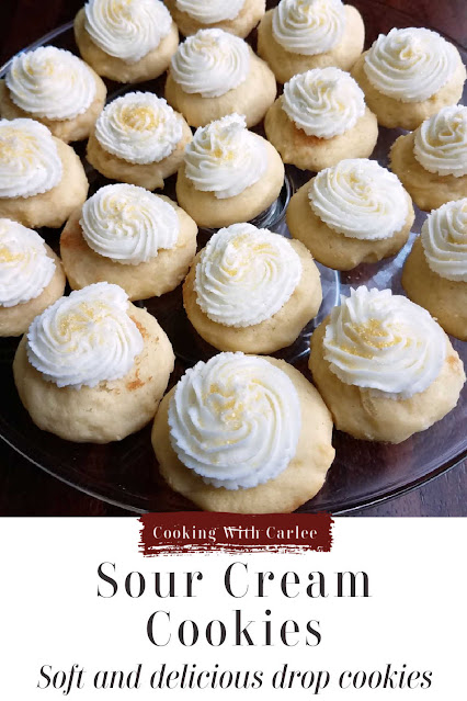 Sour cream cookies are simple, soft and oh so good. We fell in love at first bite so many years ago and they are still a favorite!