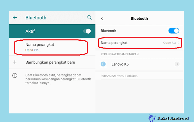Contoh Nama Bluetooth HP Oppo