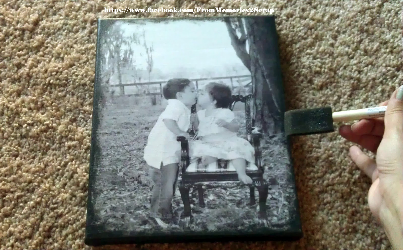 From Memories 2 Scrap Easy Tutorial Diy Photo Canvas