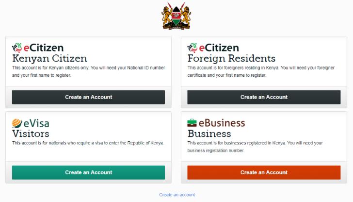 eCitizen (Kenyan Citizen) portal